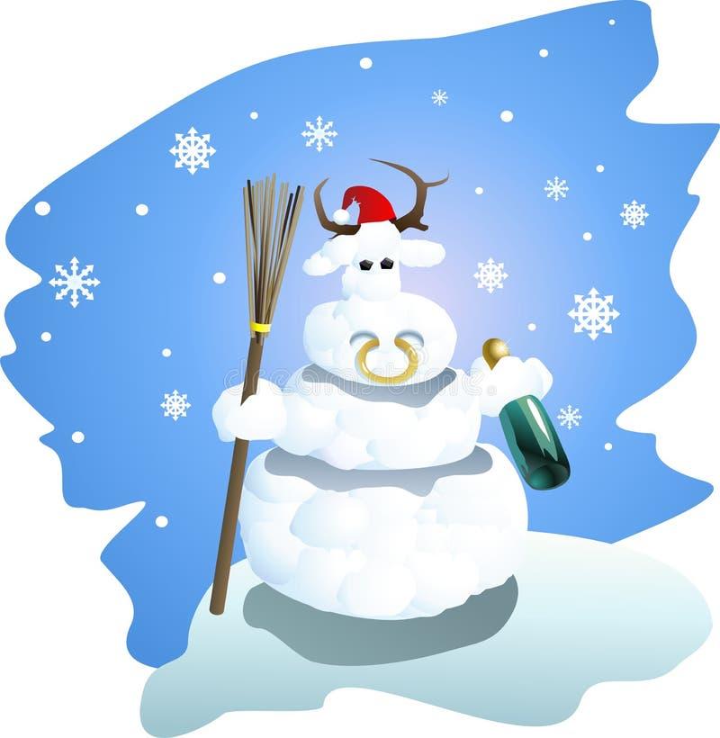 Download Hombre de la nieve ilustración del vector. Ilustración de champán - 7277143