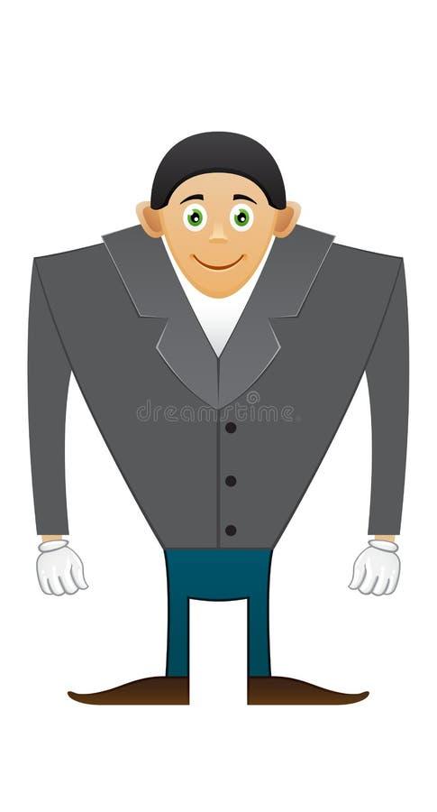 Hombre de la oficina de los hombros amplios ilustración del vector