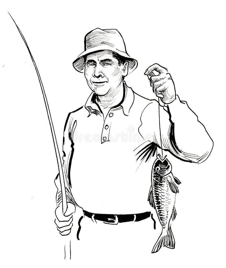 Hombre de la pesca libre illustration