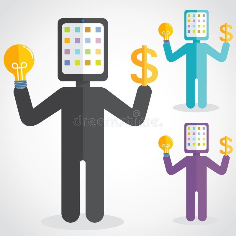 Hombre de la tableta libre illustration