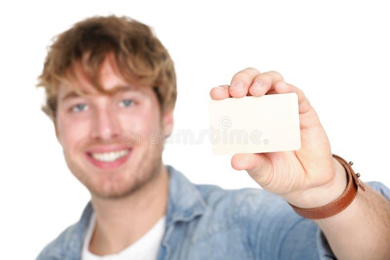Hombre de la tarjeta de visita imágenes de archivo libres de regalías