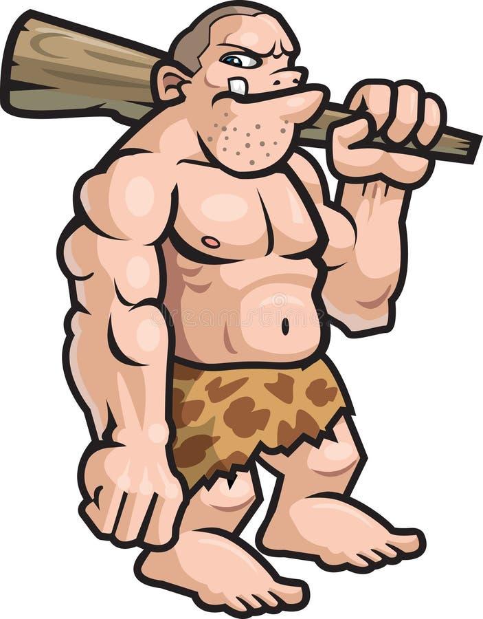 Hombre de las cavernas ilustración del vector