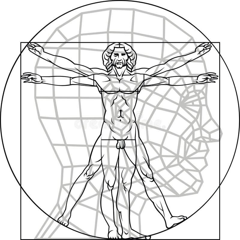 Hombre de Leonardo da Vinci libre illustration