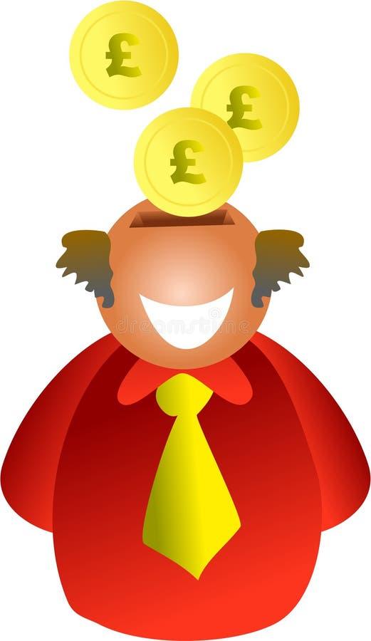 Hombre de los ahorros stock de ilustración