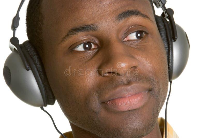 Hombre de los auriculares fotos de archivo