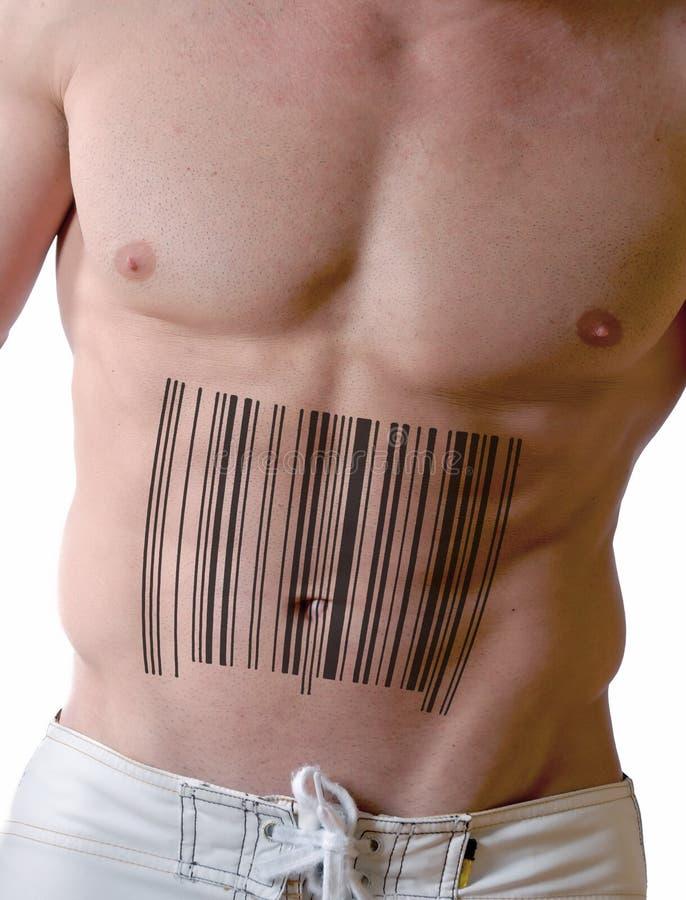 Hombre de los músculos imagen de archivo libre de regalías
