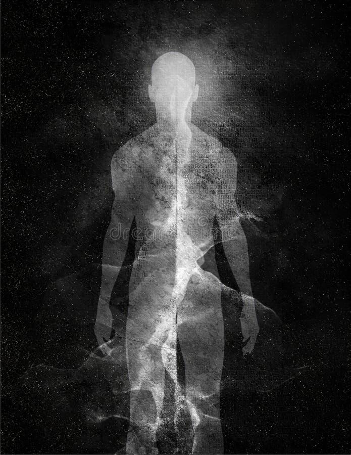 Hombre de luz stock de ilustración
