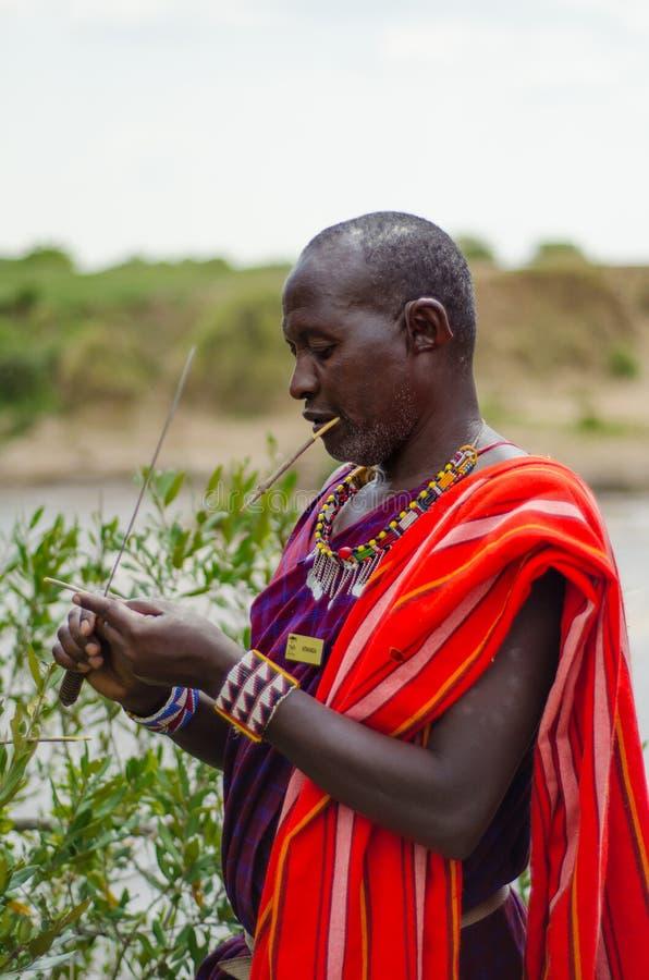 Hombre de Maasai foto de archivo libre de regalías