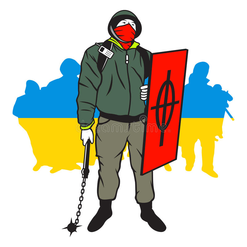 Download Hombre De Maidan Del Ucraniano Stock de ilustración - Ilustración de rabia, resistencia: 42435106