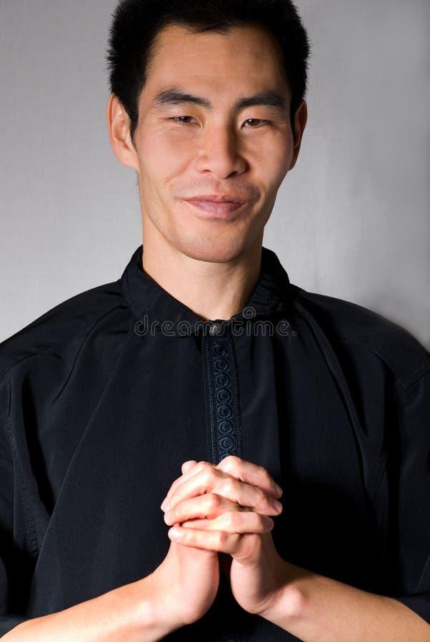 Predicación del hombre imagen de archivo