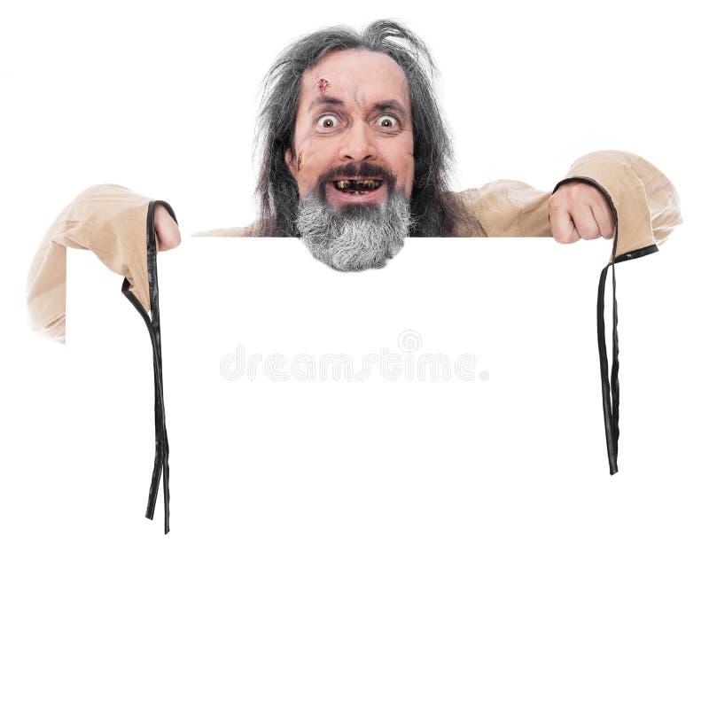Hombre de mirada insano foto de archivo