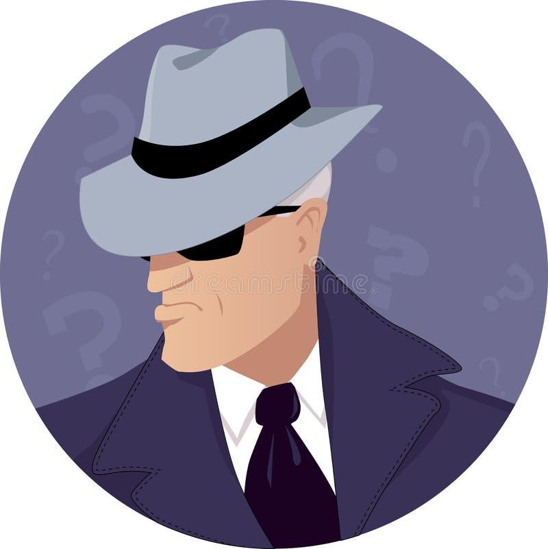 Hombre de misterio stock de ilustración