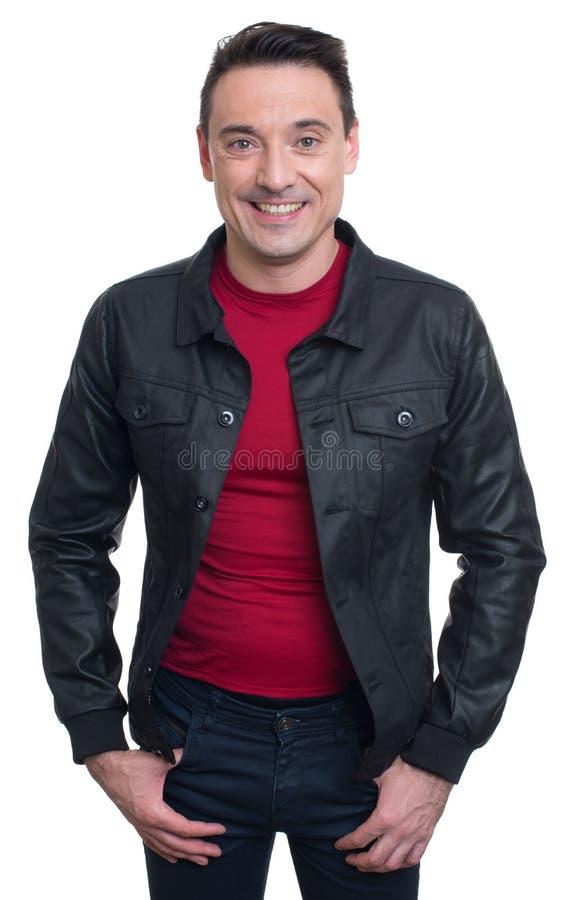 Hombre de moda joven sonriente Aislado fotos de archivo