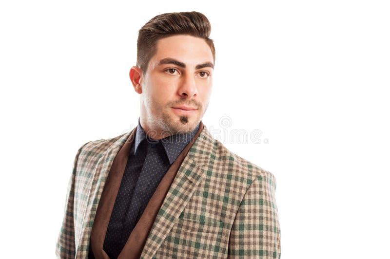 Hombre de moda y confiado de las ventas imagenes de archivo