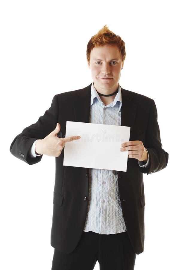 Download Hombre de negocios imagen de archivo. Imagen de mano, punta - 1290075
