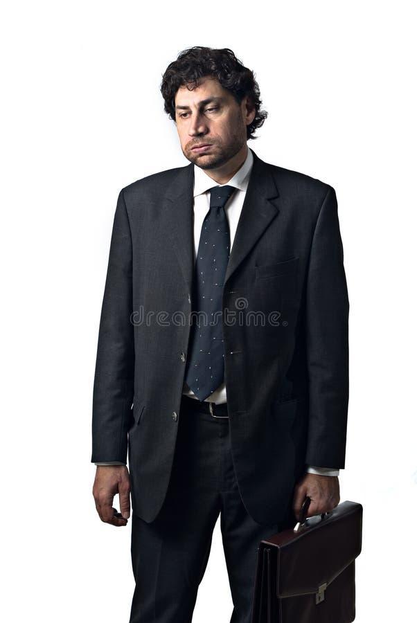 Hombre de negocios aburrido foto de archivo