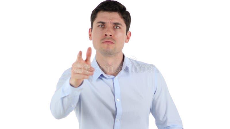Hombre de negocios Abusing y griterío, señalando el finger imagenes de archivo