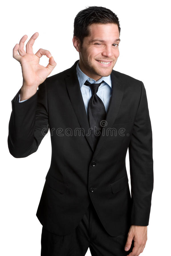 Hombre de negocios aceptable imagen de archivo