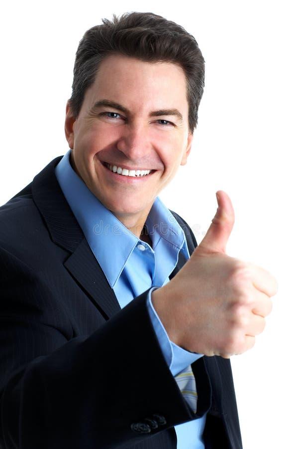 Hombre de negocios acertado. imagen de archivo