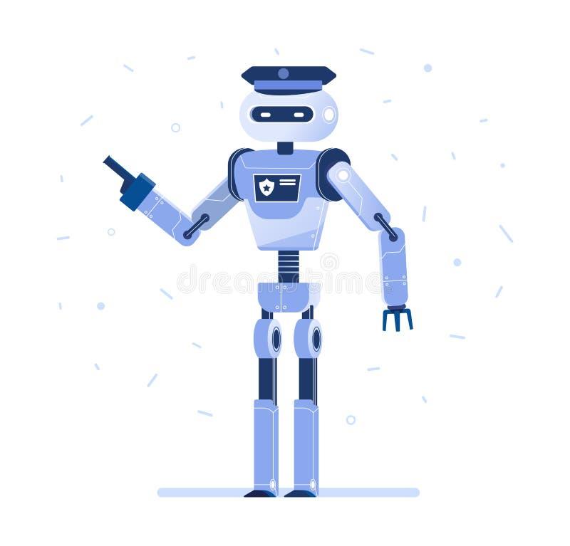 Hombre de negocios acertado del robot con un lazo stock de ilustración
