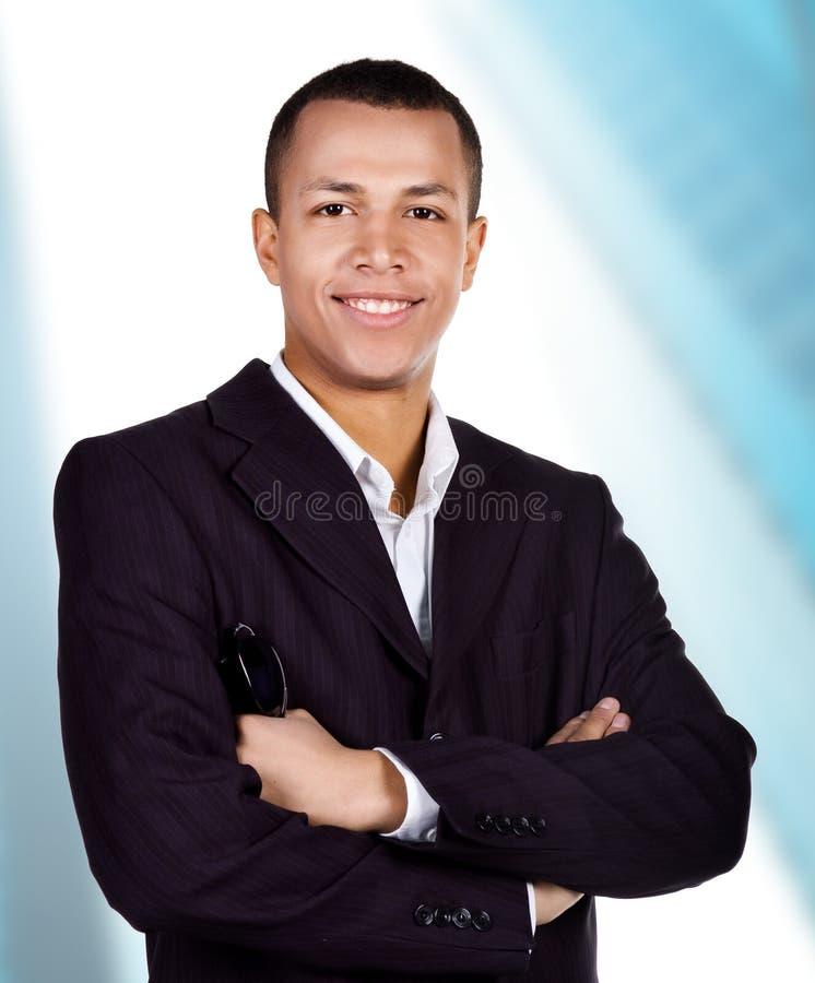Hombre de negocios acertado joven foto de archivo libre de regalías