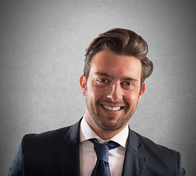 Hombre de negocios acertado imagenes de archivo