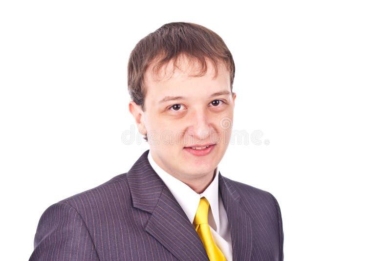 Hombre de negocios adulto en fondo aislado foto de archivo
