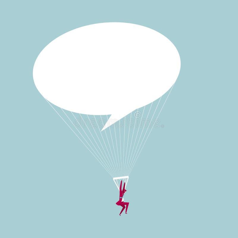 Hombre de negocios aerotransportado libre illustration