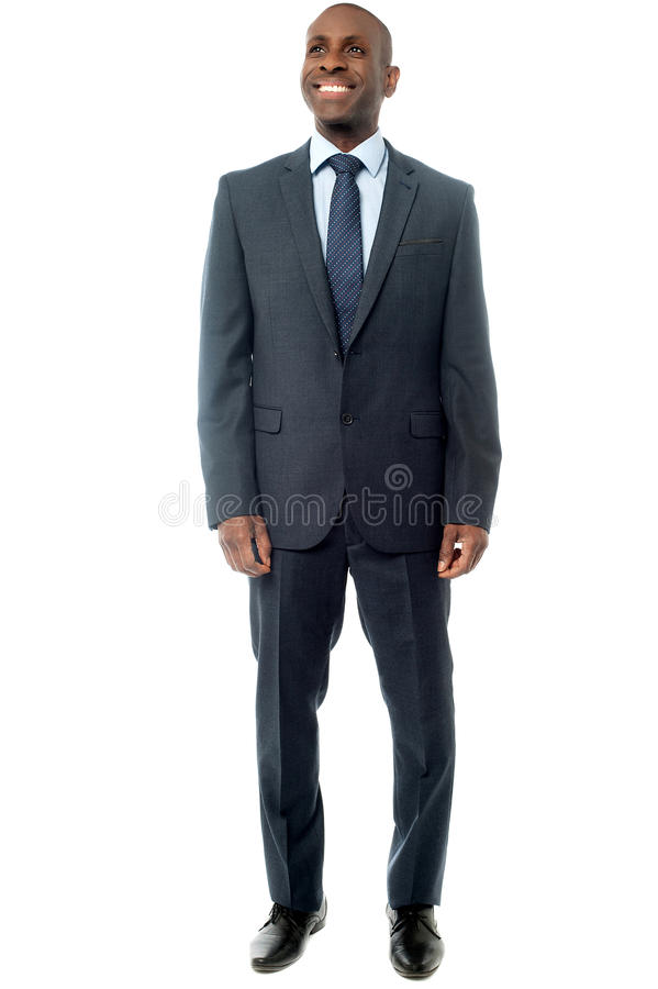 Hombre de negocios africano aislado en blanco foto de archivo libre de regalías
