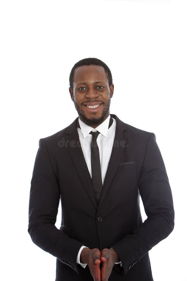 Hombre de negocios africano amistoso imagenes de archivo