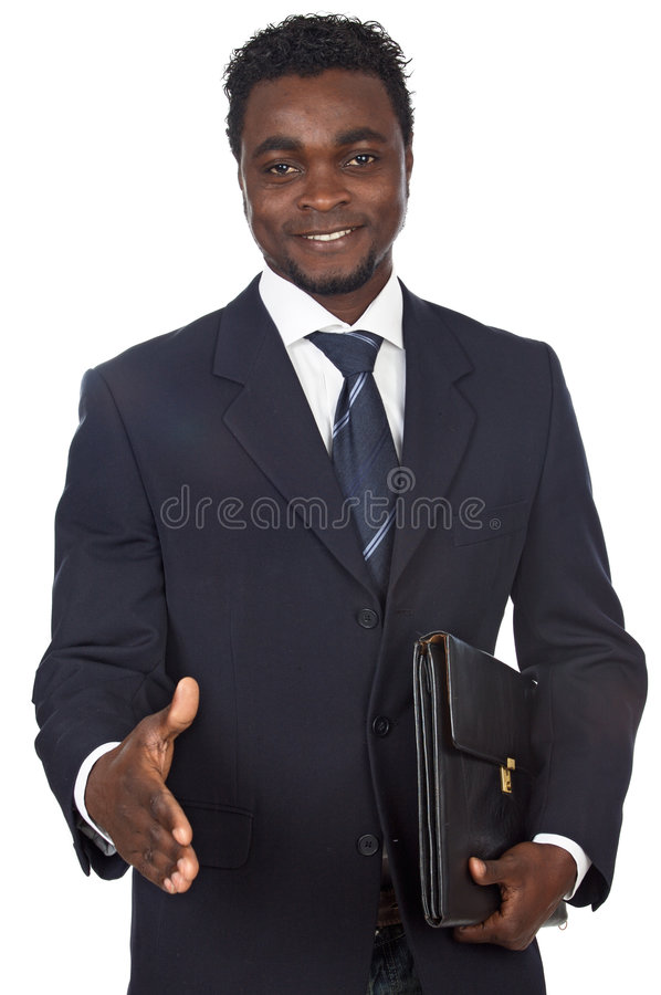 Hombre de negocios africano atractivo fotografía de archivo libre de regalías