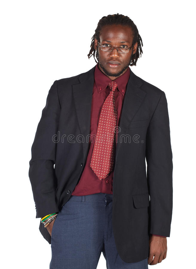 Hombre de negocios africano hermoso foto de archivo libre de regalías