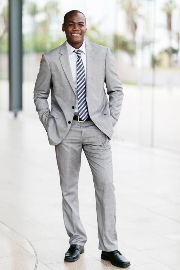 Hombre de negocios afroamericano joven fotografía de archivo libre de regalías