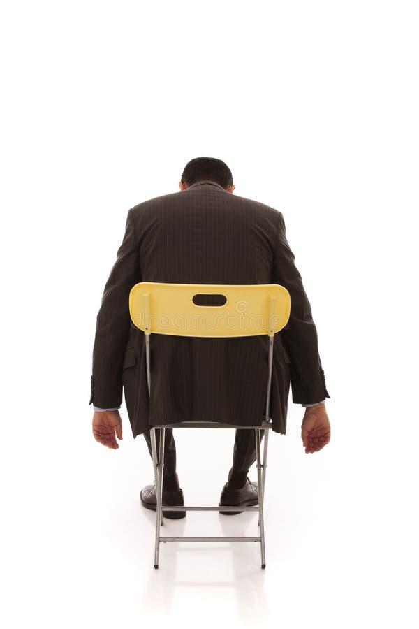Hombre de negocios agotado foto de archivo
