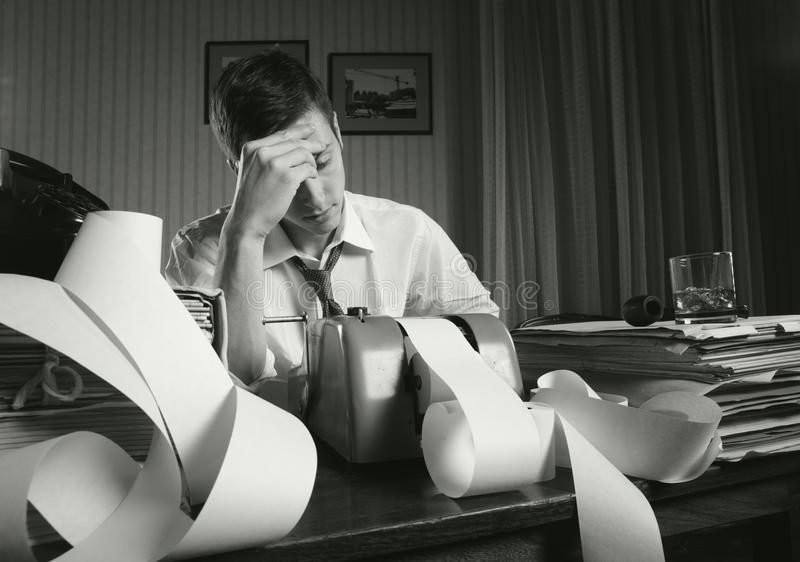 Hombre de negocios agotado fotos de archivo