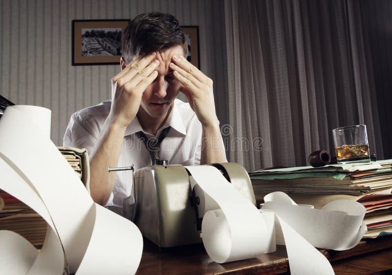 Hombre de negocios agotado imagenes de archivo