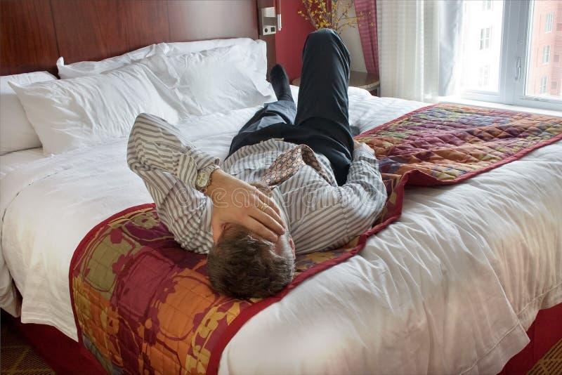 Hombre de negocios agotado imagen de archivo libre de regalías