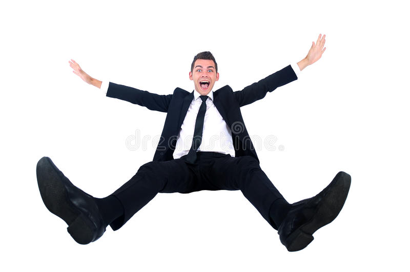 Hombre de negocios aislado imagen de archivo libre de regalías