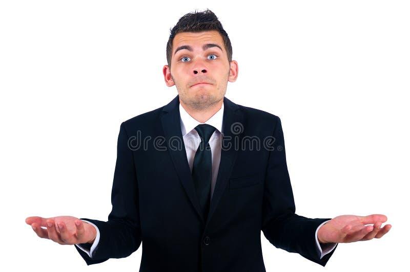 Hombre de negocios aislado foto de archivo libre de regalías