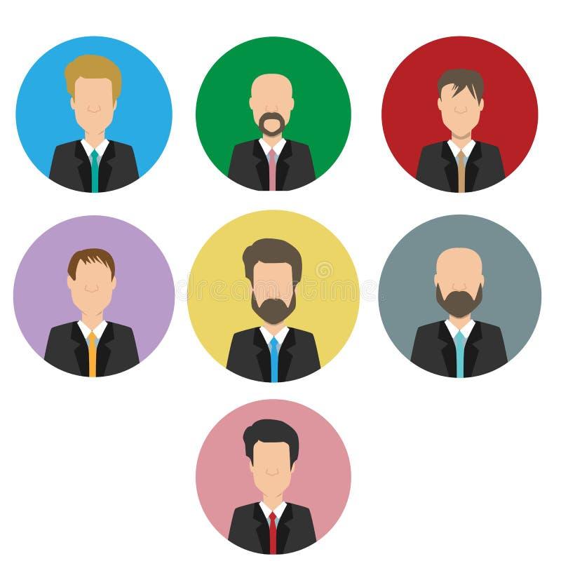 Hombre de negocios aislado ilustración del vector