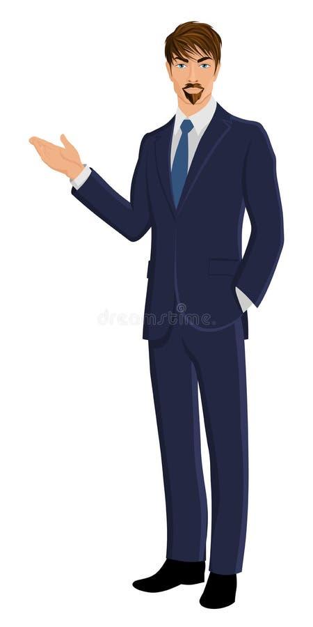 Download Hombre De Negocios Aislado En Blanco Ilustración del Vector - Ilustración de gente, varón: 42436122