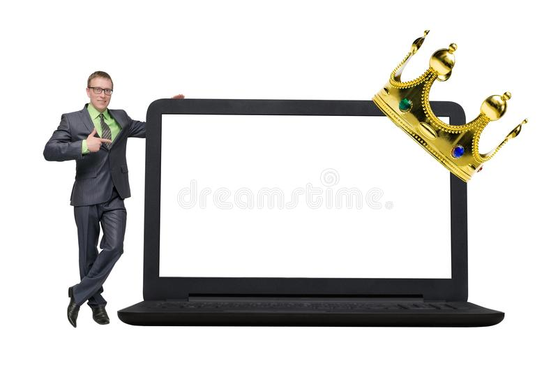 Hombre de negocios aislado en el fondo blanco foto de archivo libre de regalías