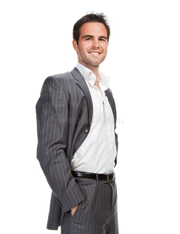 Hombre de negocios aislado sobre el fondo blanco foto de archivo libre de regalías