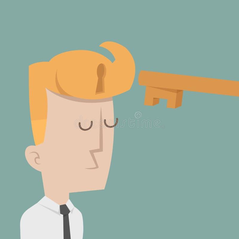 Hombre de negocios al éxito ilustración del vector
