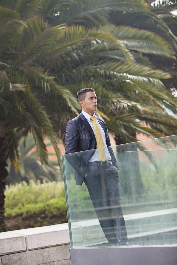 Hombre de negocios al aire libre fotografía de archivo