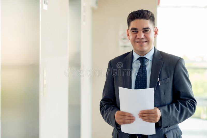 Hombre de negocios alegre fotos de archivo