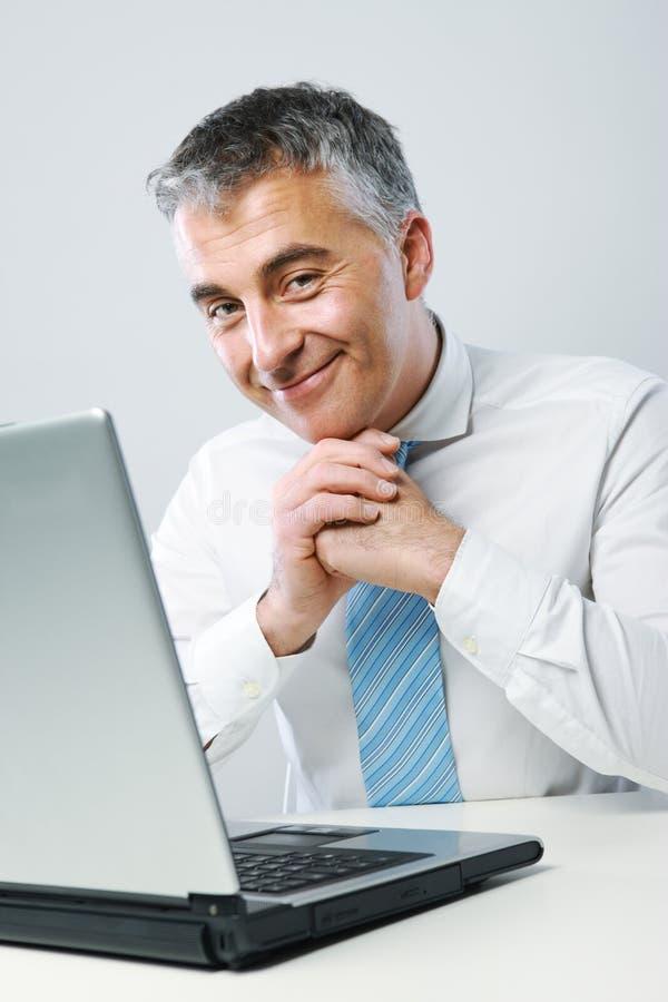 Hombre de negocios amistoso imagen de archivo
