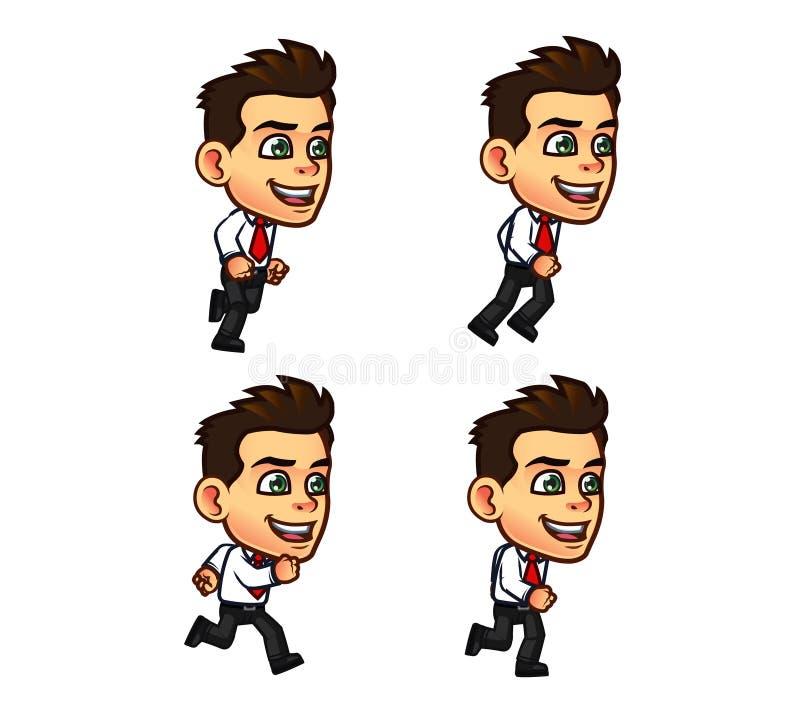 Hombre de negocios Animation Sprite stock de ilustración