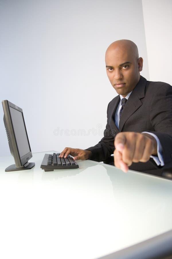 Hombre de negocios arrogante fotografía de archivo libre de regalías