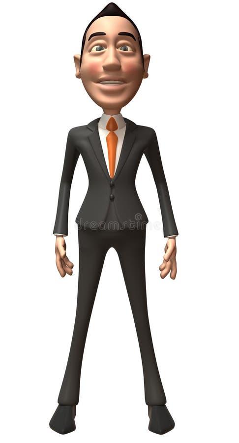 Hombre de negocios asiático ilustración del vector